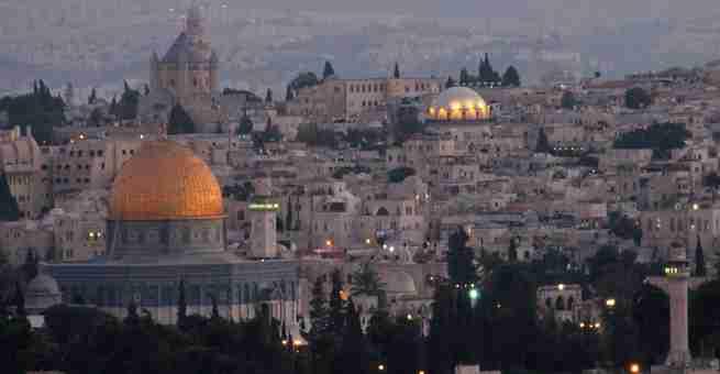صورة رائعة لمدينة القدس المحتلة