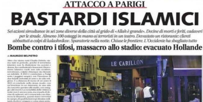 صحيفة إيطالية تسيء للإسلام وتصف المسلمين بالأوغاد