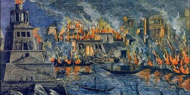 قصة حرق أعظم مكتبة على وجه الأرض