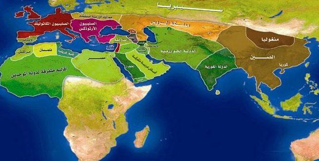 خريطة العالم الإسلامي وقت ظهور التتار