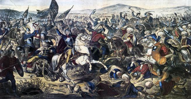 معركة كوسوفو الأولى عندما حطم العثمانيون الصرب